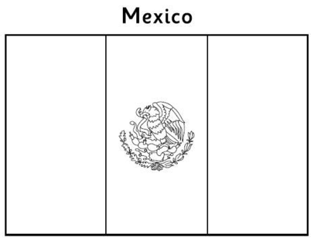 mexico flag to color mexican flag coloring page k5 worksheets to flag color mexico