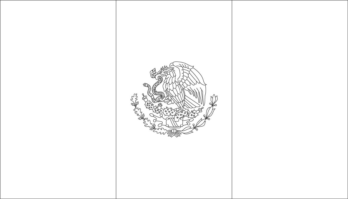 mexico flag to color world flags coloring sheets 5 to mexico color flag