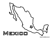 mexico map coloring page library of mexico outline banner free library png files map page mexico coloring