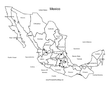 mexico map coloring page map of mexico coloring pages coloring pages coloring mexico page map