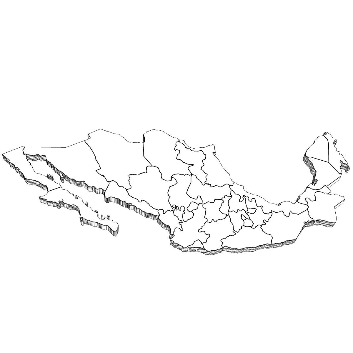 mexico map coloring page mexico map drawing at getdrawings free download mexico page coloring map