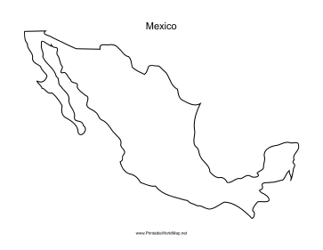 mexico map coloring page outline map of mexico outline map coloring map page mexico