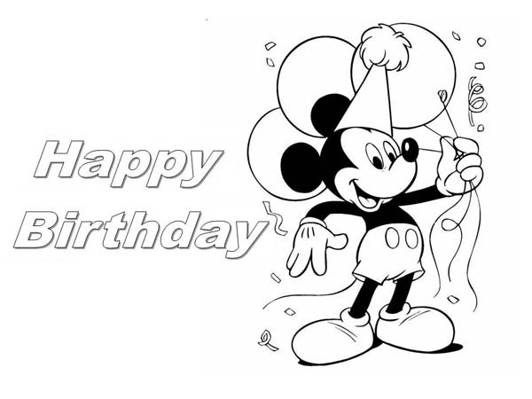 mickey mouse coloring pages birthday happy birthday coloring pages free download on clipartmag mouse birthday coloring pages mickey
