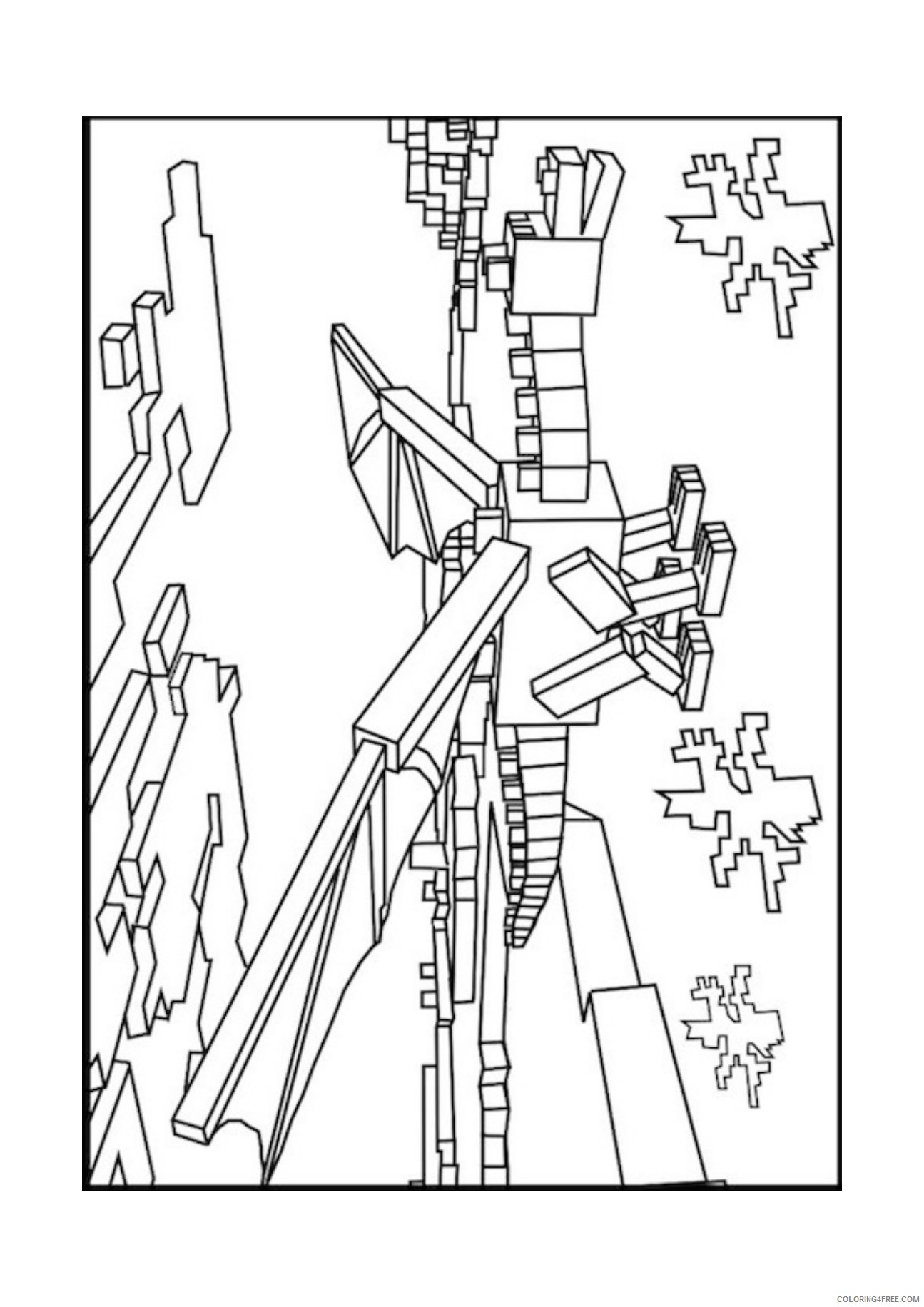 mine craft coloring pages minecraft mobs a minecraft coloring page for kids mine coloring craft pages