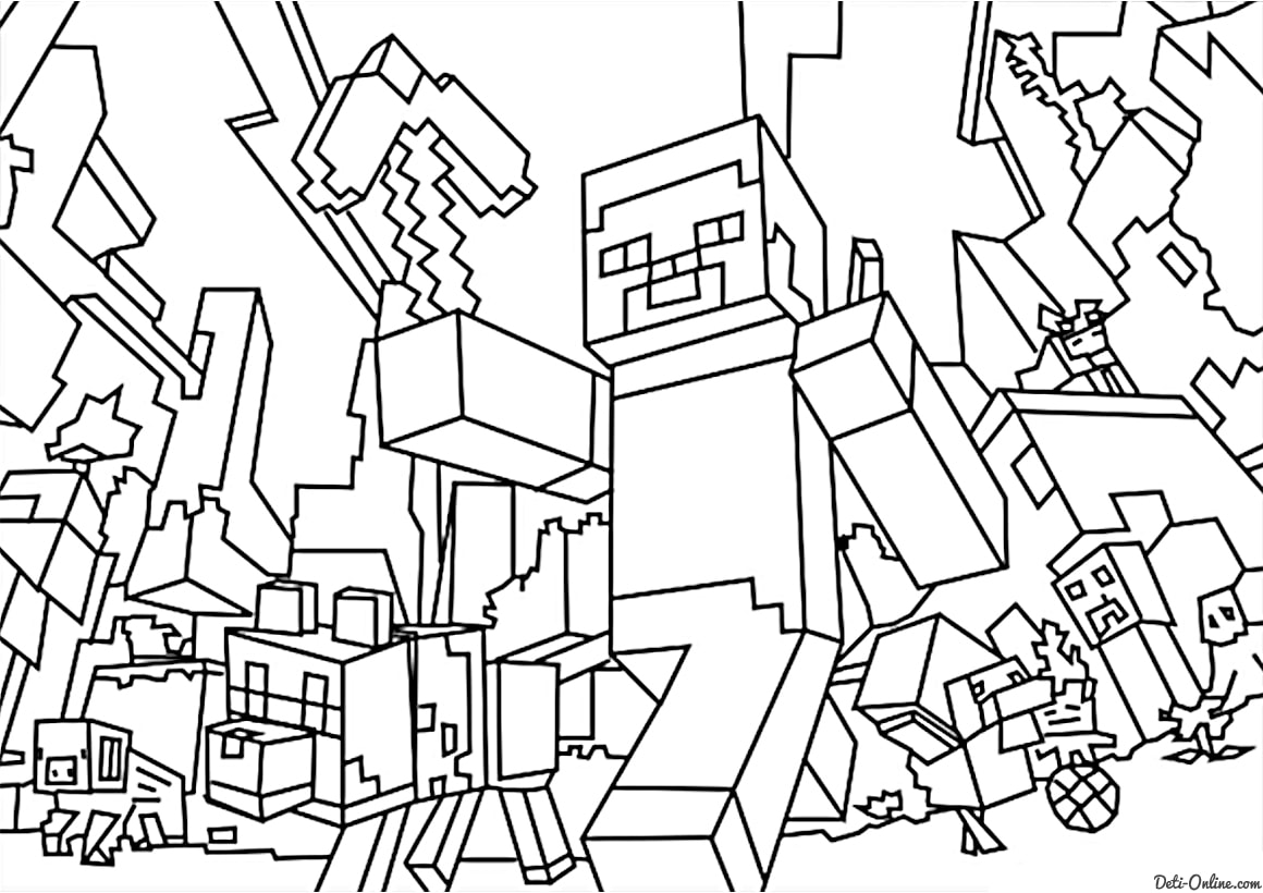 mine craft coloring pages printable minecraft coloring pages coloring home craft coloring mine pages