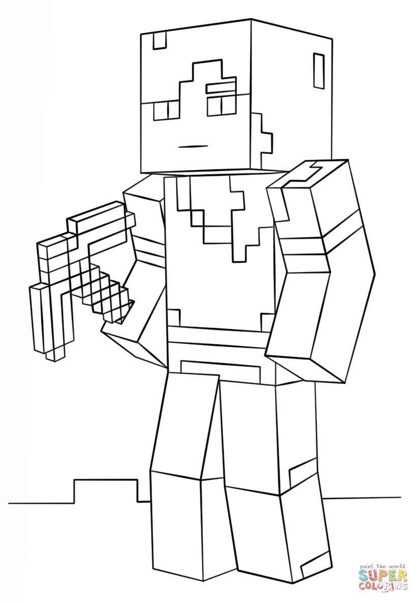 minecraft coloring minecraft coloring pages herobrine at getcoloringscom minecraft coloring