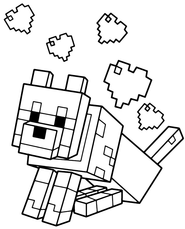minecraft dog coloring pages 9 dog coloring pages jpg ai illustrator download dog minecraft pages coloring