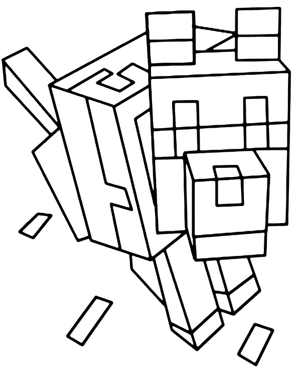 minecraft dog coloring pages hero with dogs high quality free coloring from the minecraft dog coloring pages