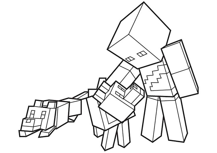 minecraft dog coloring pages minecraft coloring pages cat coloring home minecraft dog pages coloring