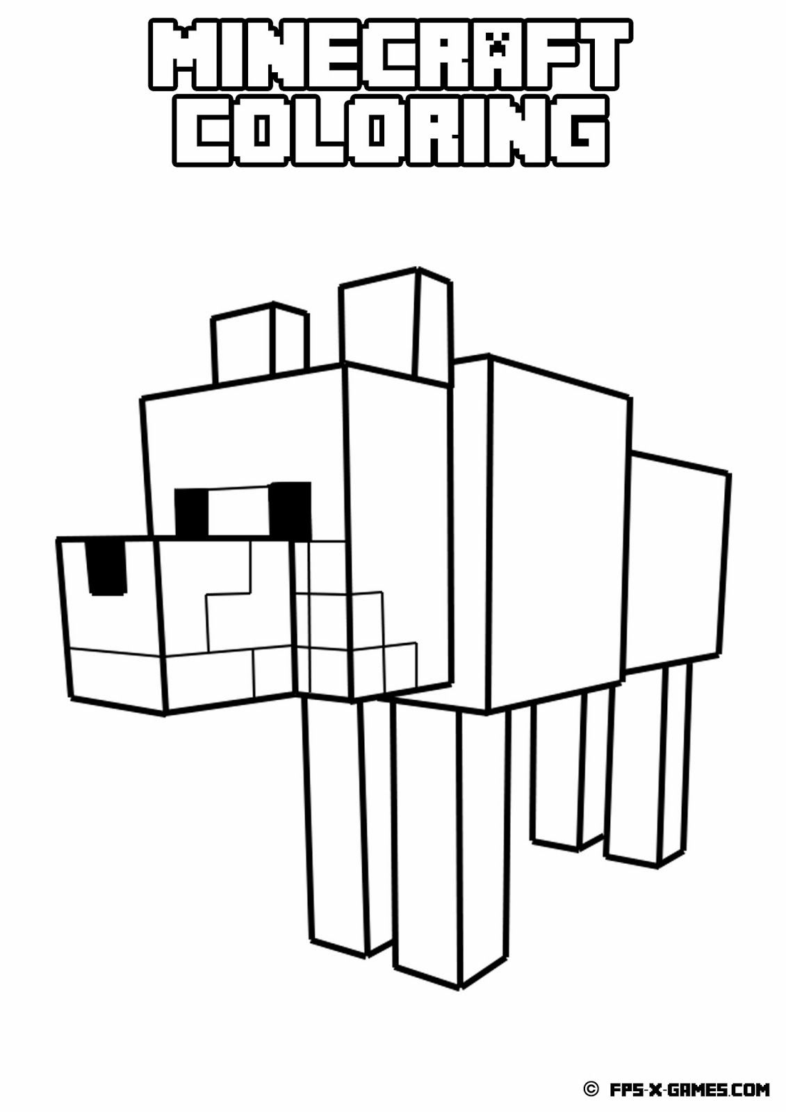 minecraft dog coloring pages minecraft diamond sword coloring page at getdrawings dog minecraft coloring pages