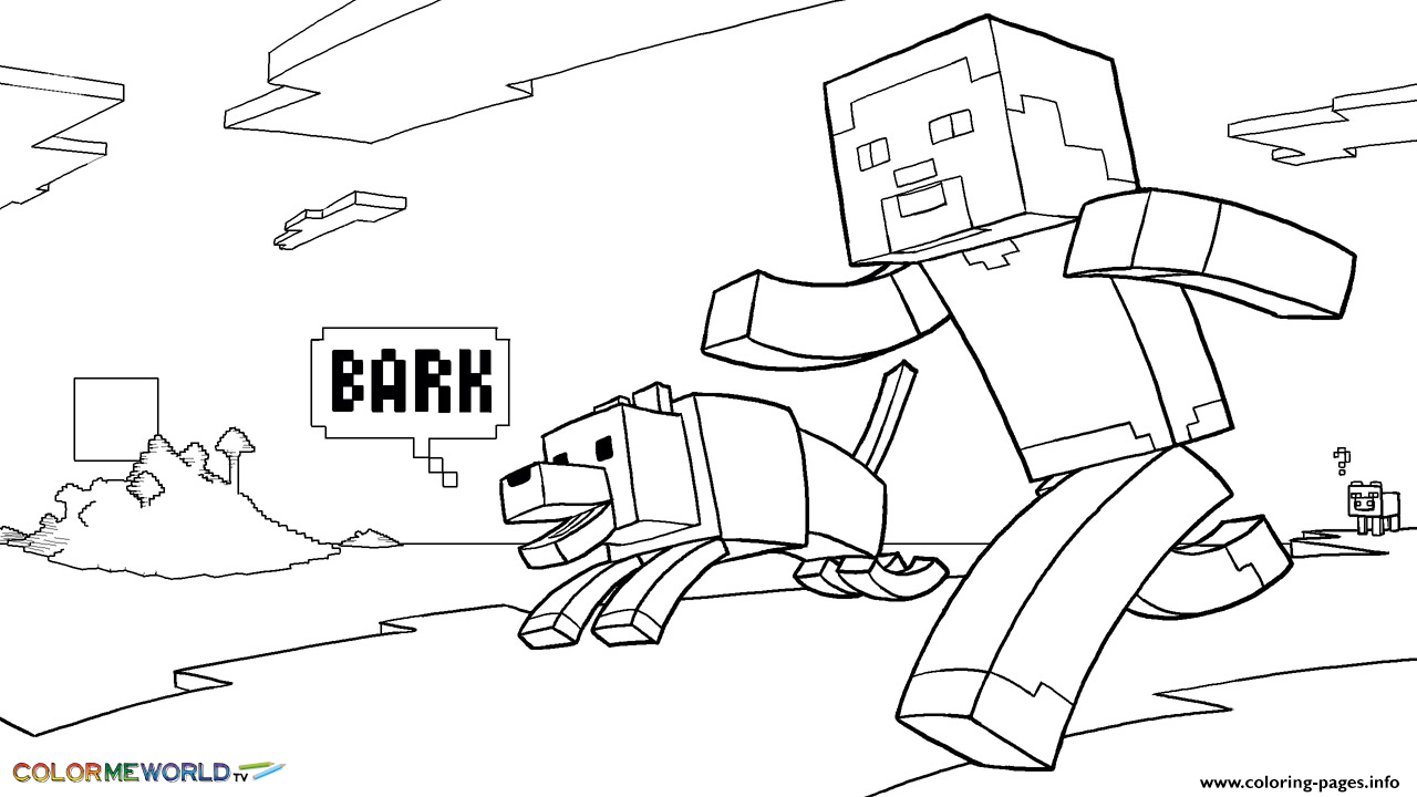 minecraft dog coloring pages print minecraft coloring kids with dog coloring pages minecraft coloring pages dog
