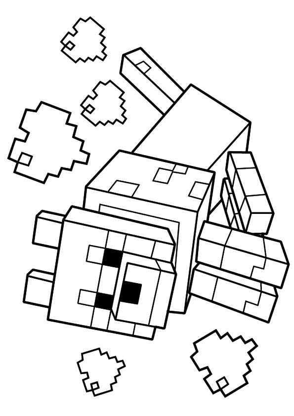 minecraft dog coloring pages wolf in minecraft coloring page free printable coloring dog pages coloring minecraft