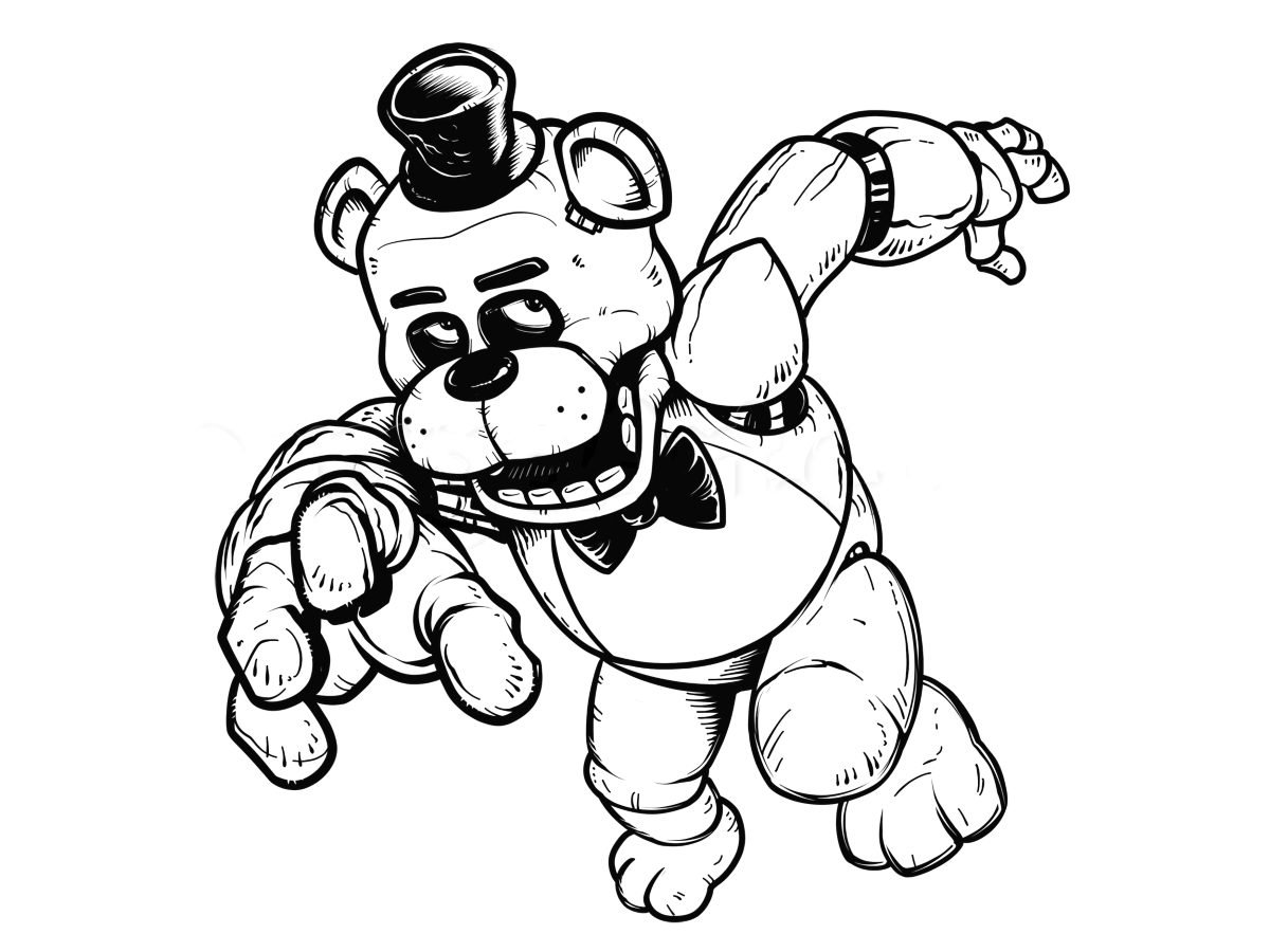 minecraft fnaf coloring pages mangle from five nights at freddy39s coloring page free minecraft fnaf pages coloring