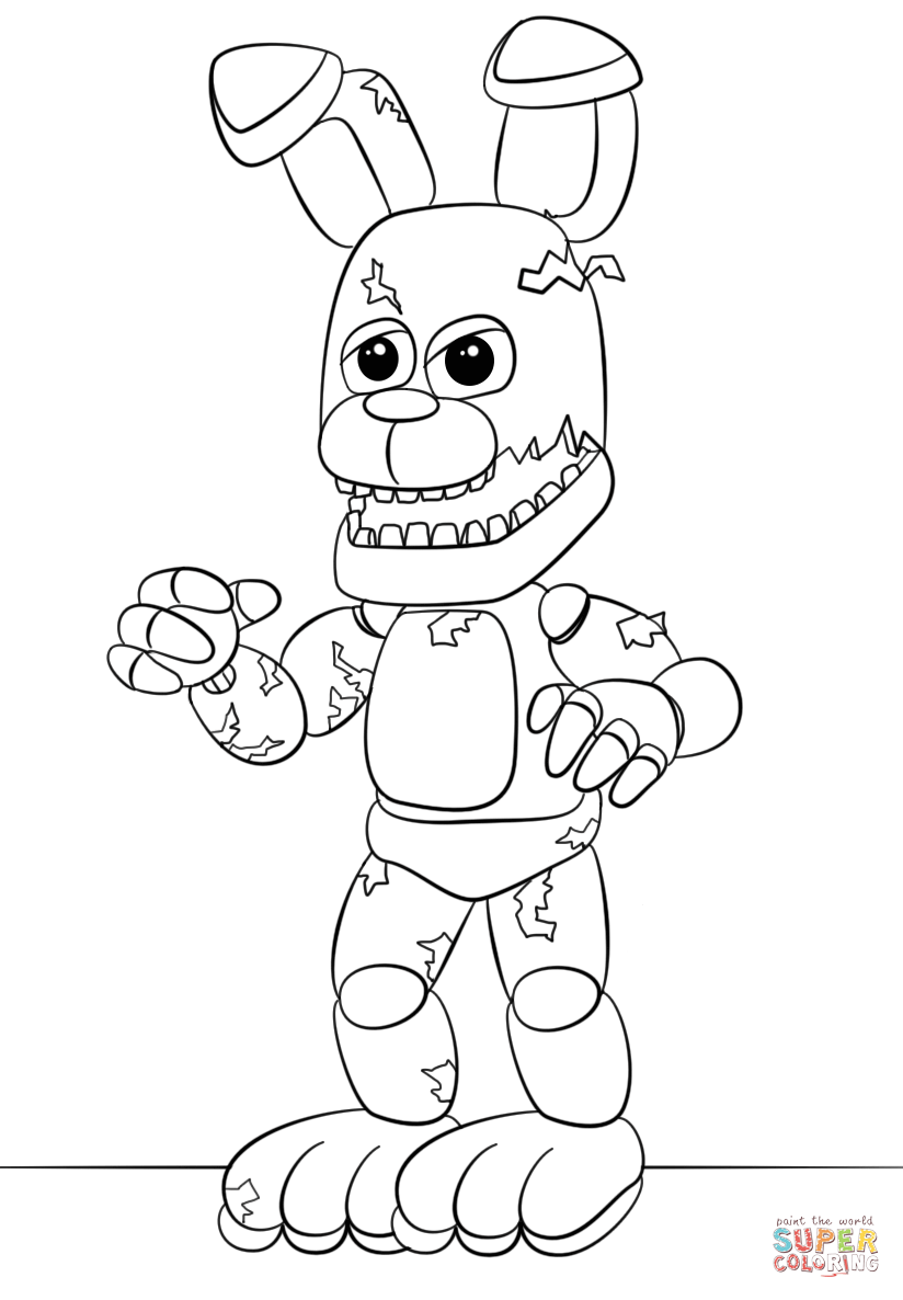 minecraft fnaf coloring pages nightmare feddy free coloring pages minecraft pages fnaf coloring