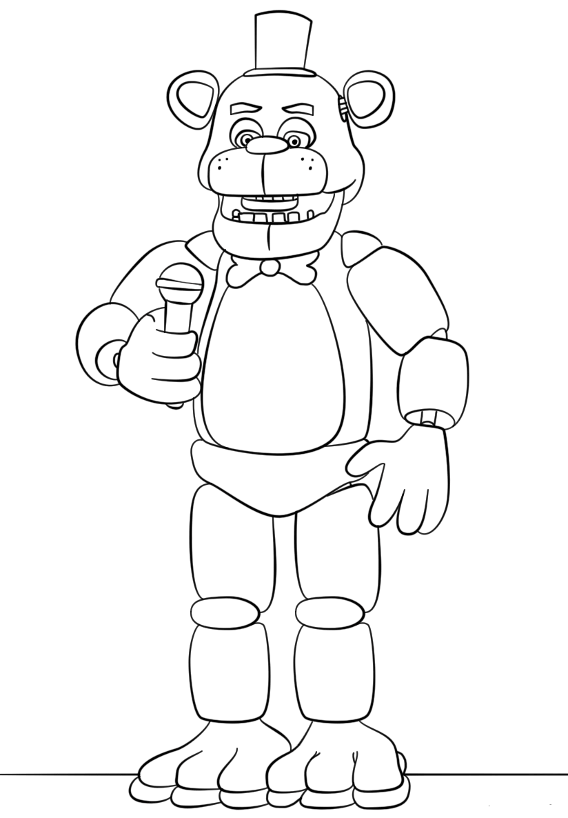 minecraft fnaf coloring pages nightmare feddy free coloring pages pages minecraft coloring fnaf