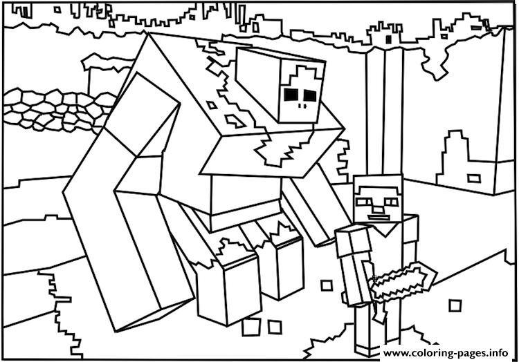 minecraft iron golem coloring pages get this minecraft coloring pages iron golem irt6 pages minecraft golem iron coloring