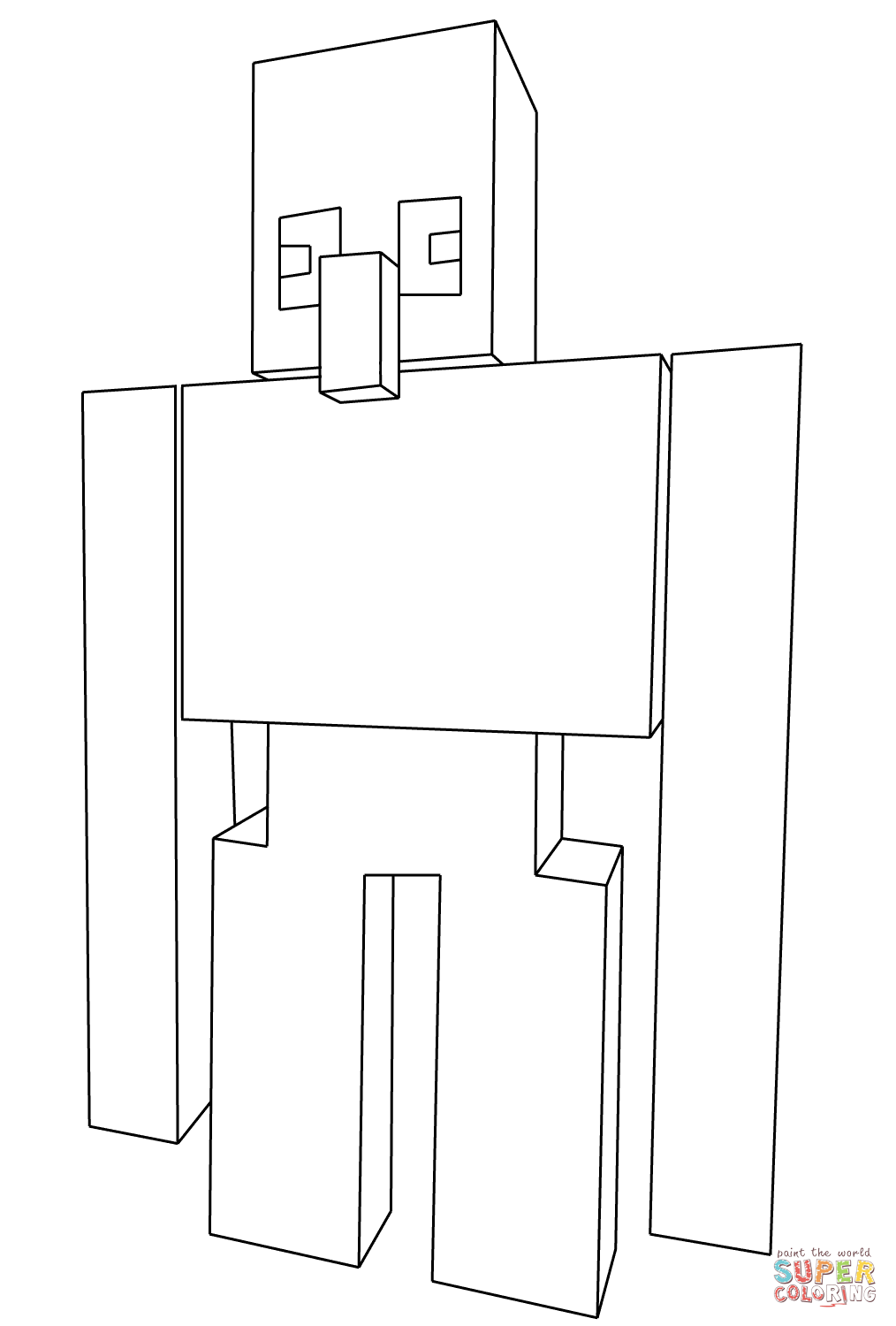 minecraft iron golem coloring pages minecraft iron golem coloring pages at getdrawings free iron coloring minecraft pages golem