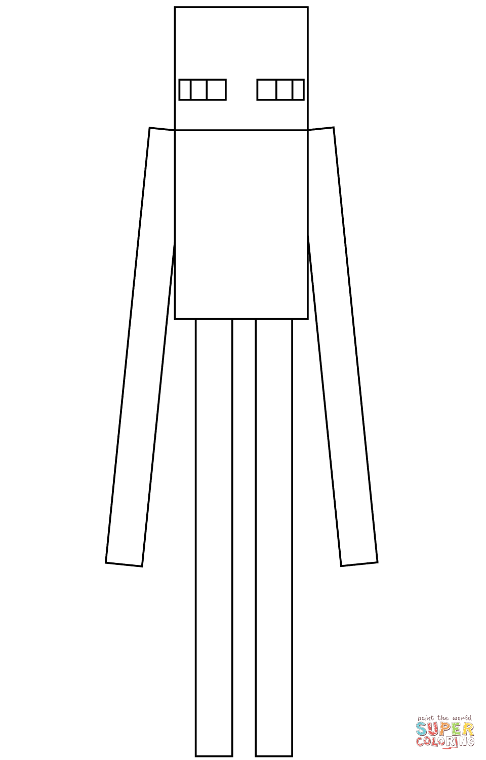 minecraft mutant enderman coloring pages 37 coloriage minecraft enderman mutant minecraft pages coloring mutant enderman