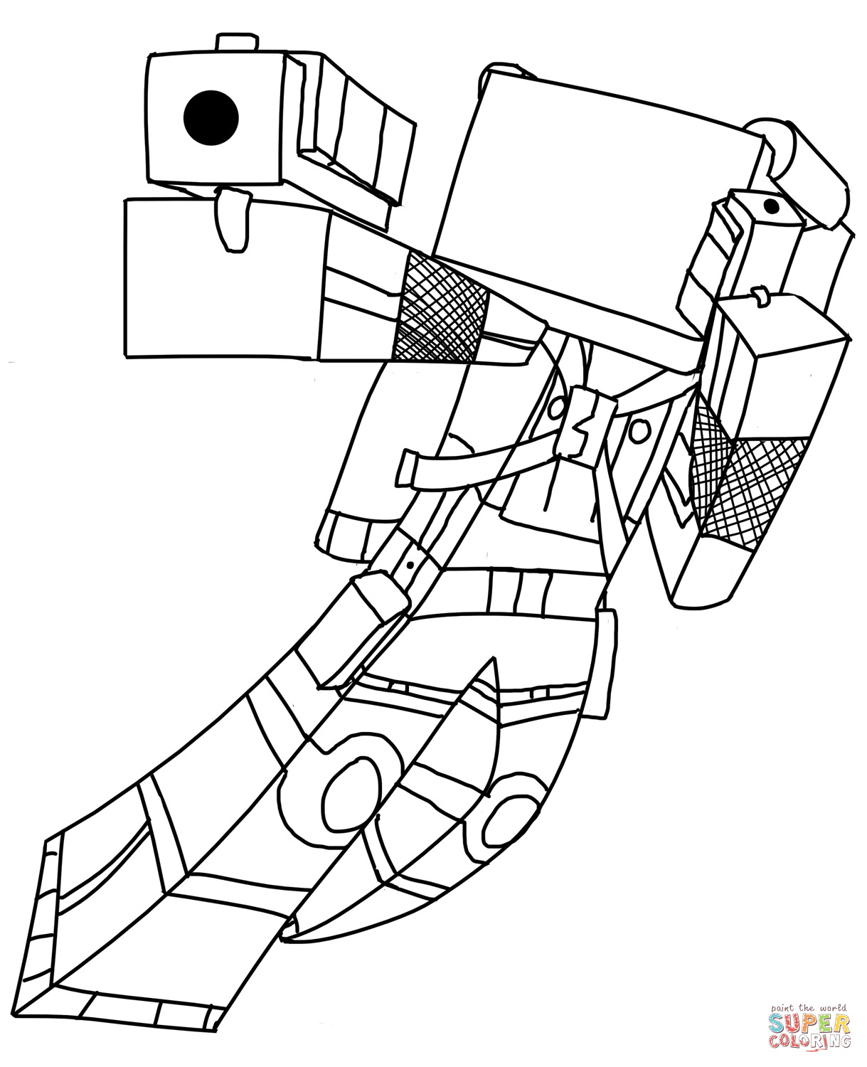 minecraft mutant enderman coloring pages 37 coloriage minecraft enderman mutant pages mutant coloring minecraft enderman