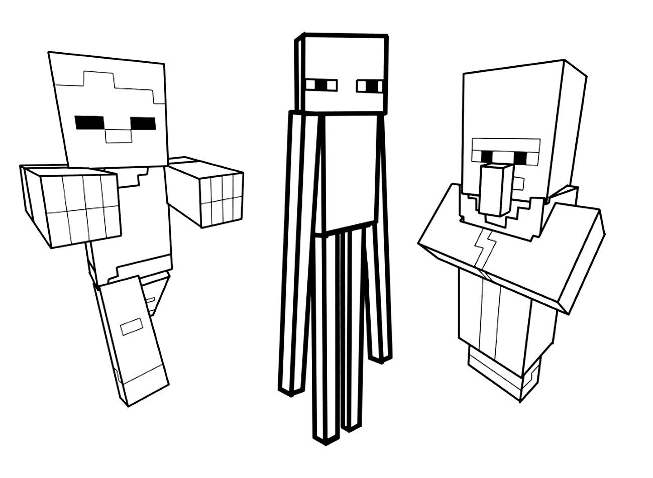 minecraft mutant enderman coloring pages minecraft ausmalbilder enderman coloring enderman minecraft mutant pages
