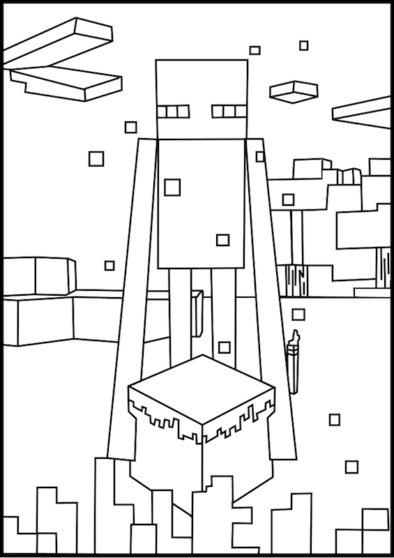 minecraft mutant enderman coloring pages minecraft coloring enderman free printable coloring pages minecraft enderman coloring pages mutant