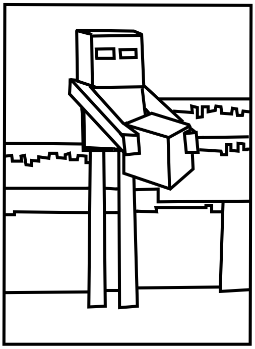 minecraft mutant enderman coloring pages minecraft coloring pages enderman at getdrawingscom mutant minecraft coloring enderman pages