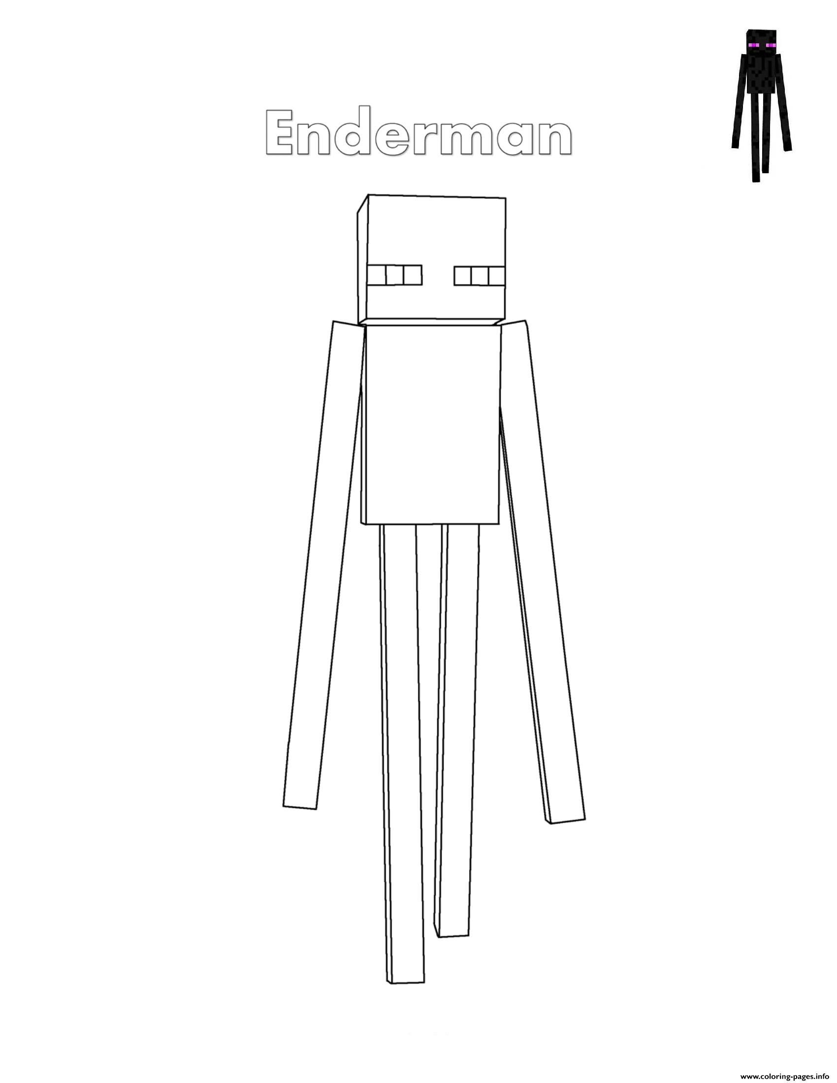 minecraft mutant enderman coloring pages minecraft enderman coloring page free printable coloring coloring mutant pages minecraft enderman