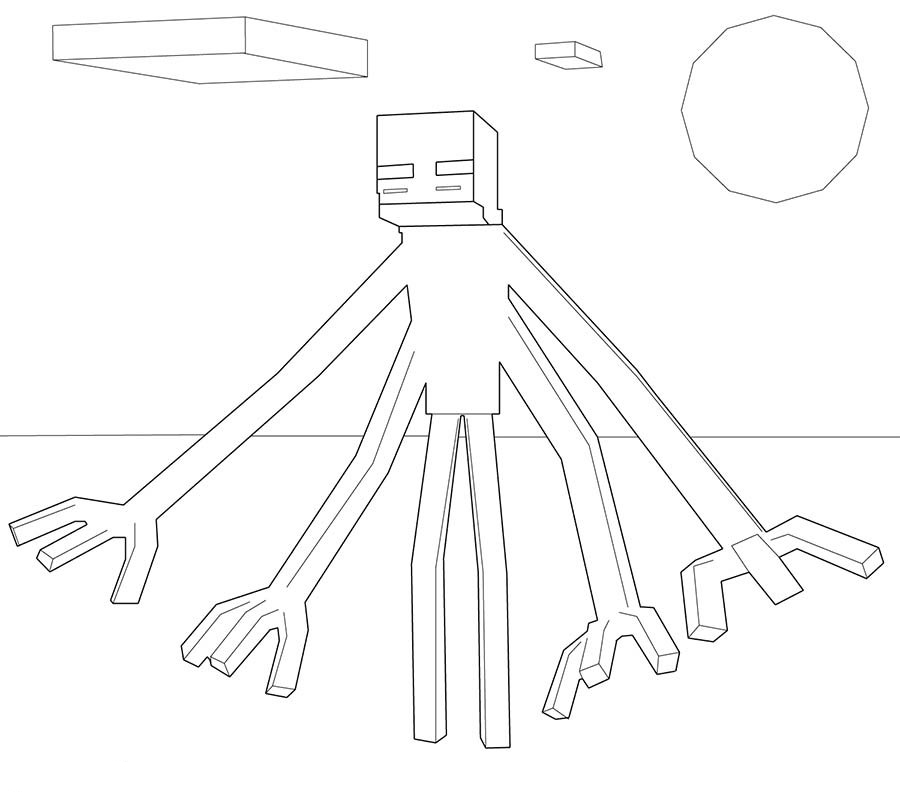 minecraft mutant enderman coloring pages the best free enderman coloring page images download from enderman pages coloring mutant minecraft