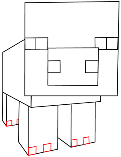 minecraft pig drawing how to draw pig minecraft drawing pig minecraft
