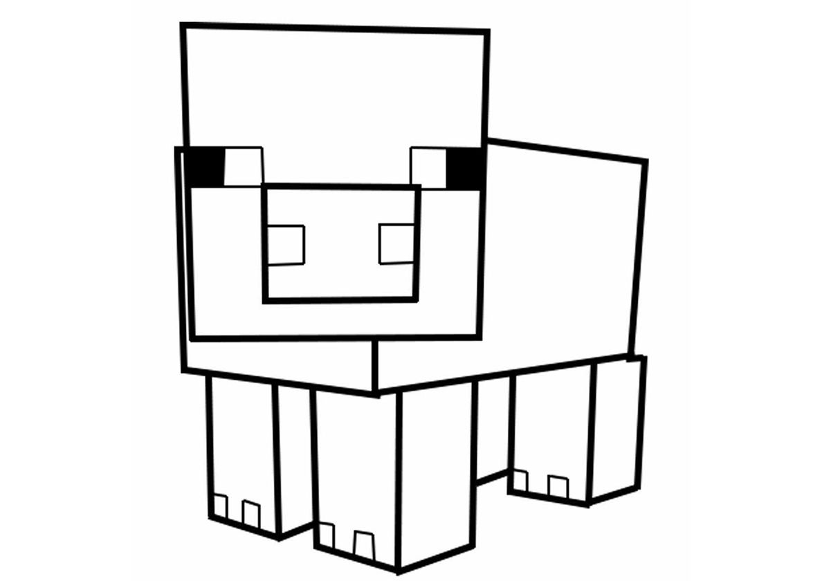minecraft pig drawing pig free coloring pages coloring pages free printable drawing pig minecraft