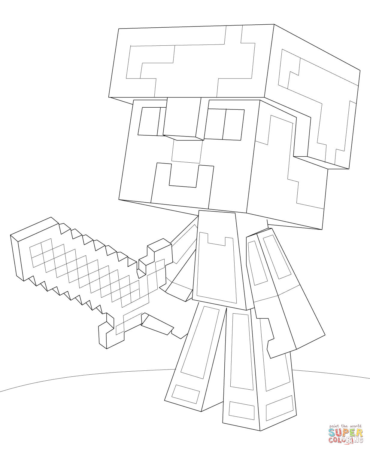 minecraft weapons coloring pages best of printable minecraft sword coloring pages cool pages minecraft weapons coloring