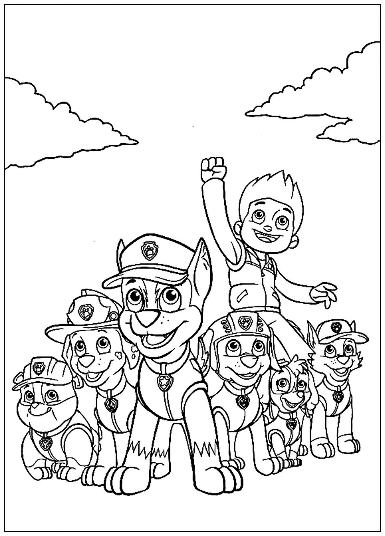 mission paw coloring pages coloriage pat patrouille mission recyclage dessin coloring pages mission paw