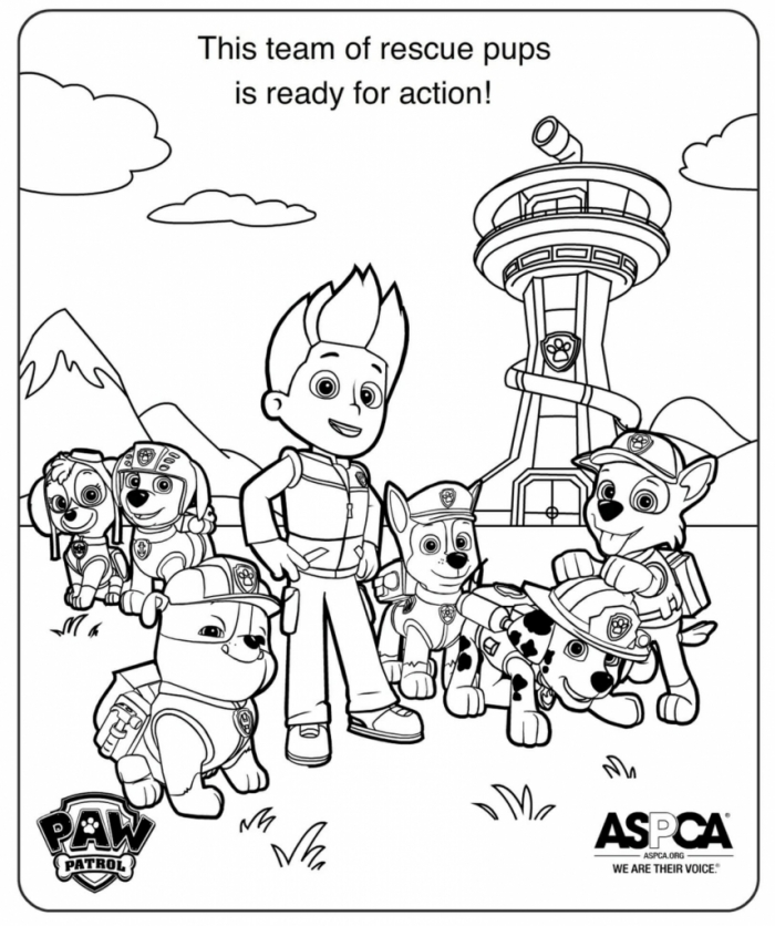 mission paw coloring pages coloring pages printable paw patrol2020画像あり パウパトロール paw coloring mission pages