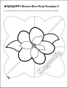 mississippi state flower mississippi state flower coloring page with images flower state mississippi