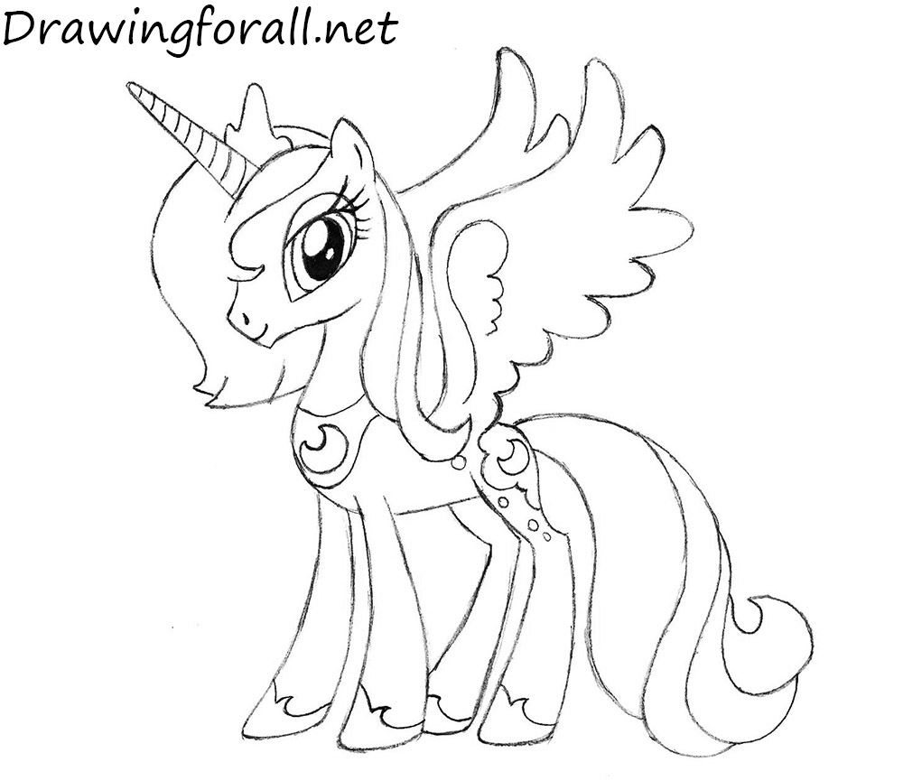 mlp how to draw luna learn how to draw princess luna from my little pony how luna to draw mlp