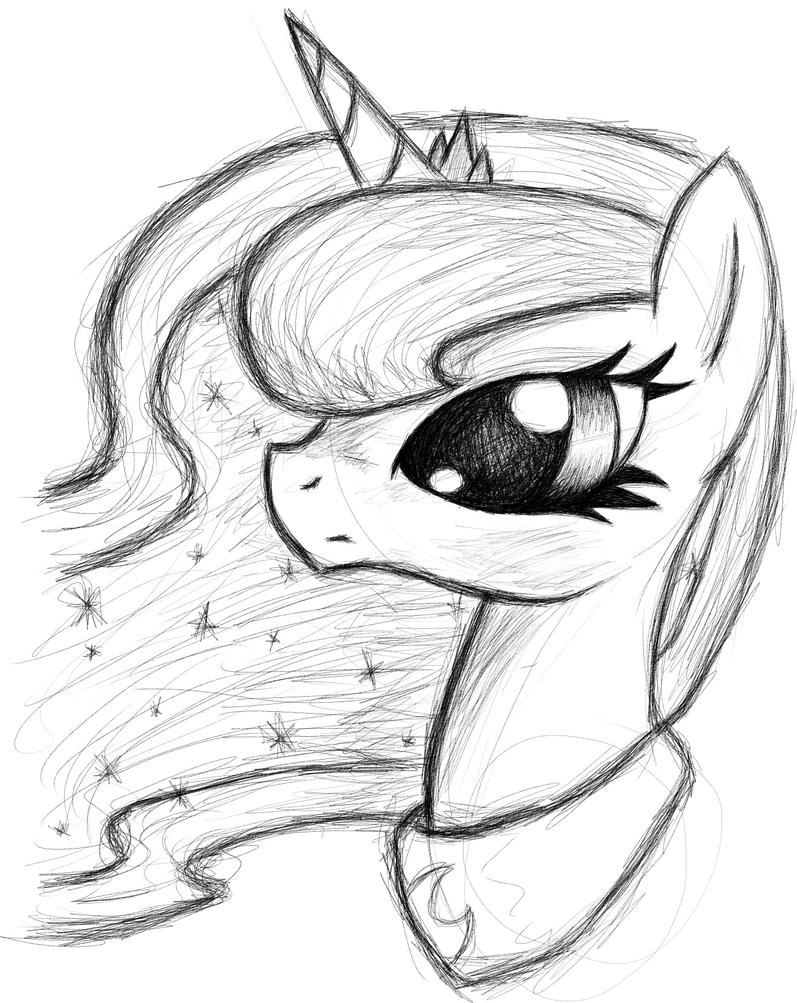 mlp how to draw luna luna lineart by ikillyou121 on deviantart mlp to luna how draw