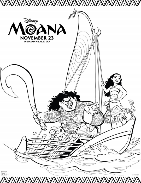 moana boat coloring pages coloring pages of moana cartoon coloring pages boat pages moana coloring
