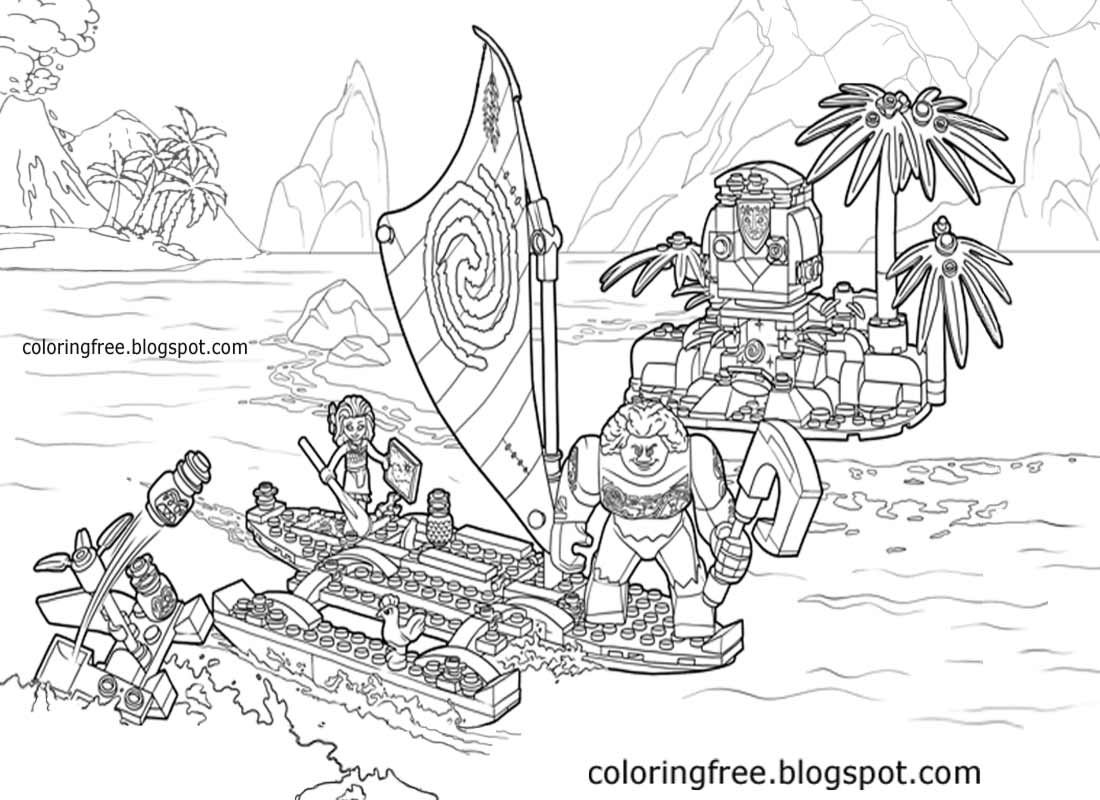 moana boat coloring pages leuk voor kids fun for kids moana on the beach boat pages moana coloring