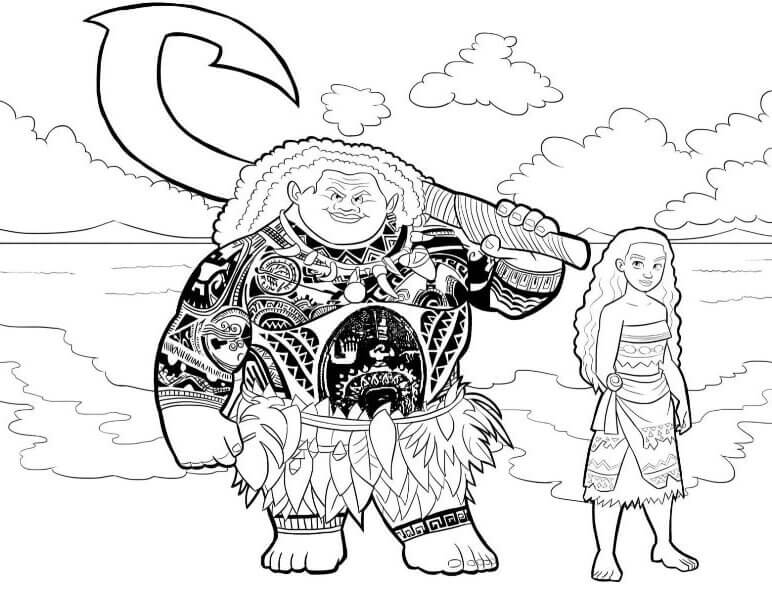 moana boat coloring pages moana and maui in the boat coloring pages free printables coloring moana pages boat