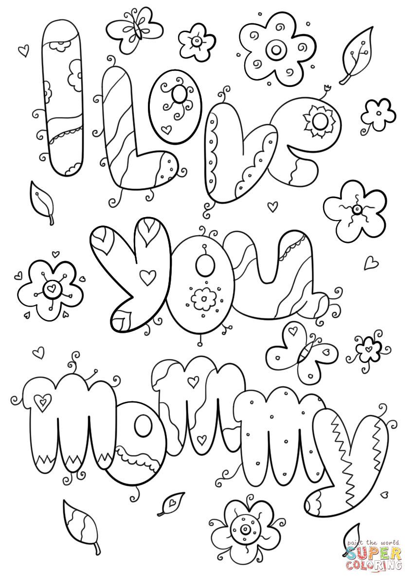 mommy coloring pages i love you mommy coloring page free printable coloring pages pages mommy coloring