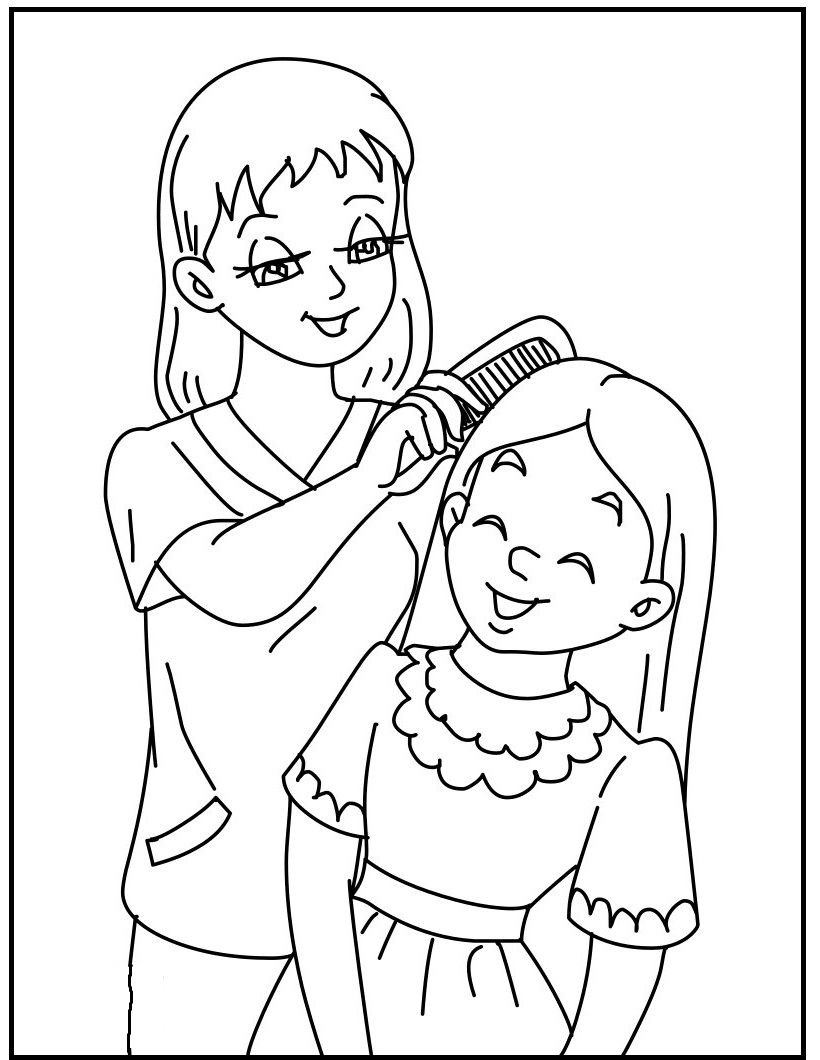mommy coloring pages mother daughter coloring pages at getcoloringscom free coloring mommy pages
