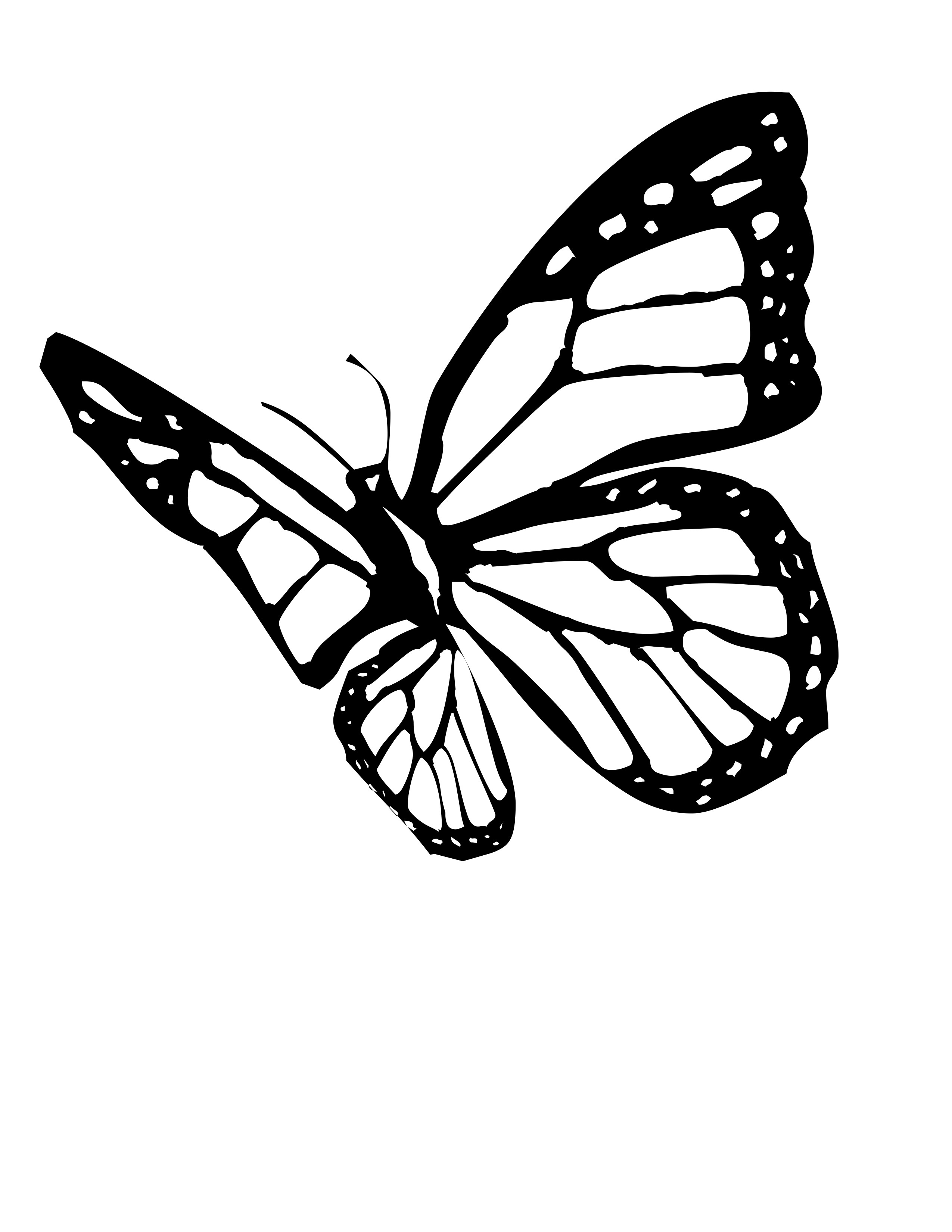 monarch butterfly coloring page monarch butterfly coloring pages to print free coloring monarch page butterfly coloring