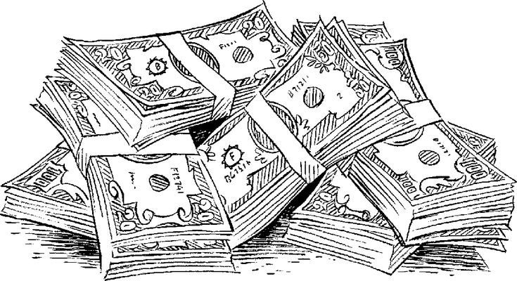 money coloring page money clipart black and white with images money page money coloring