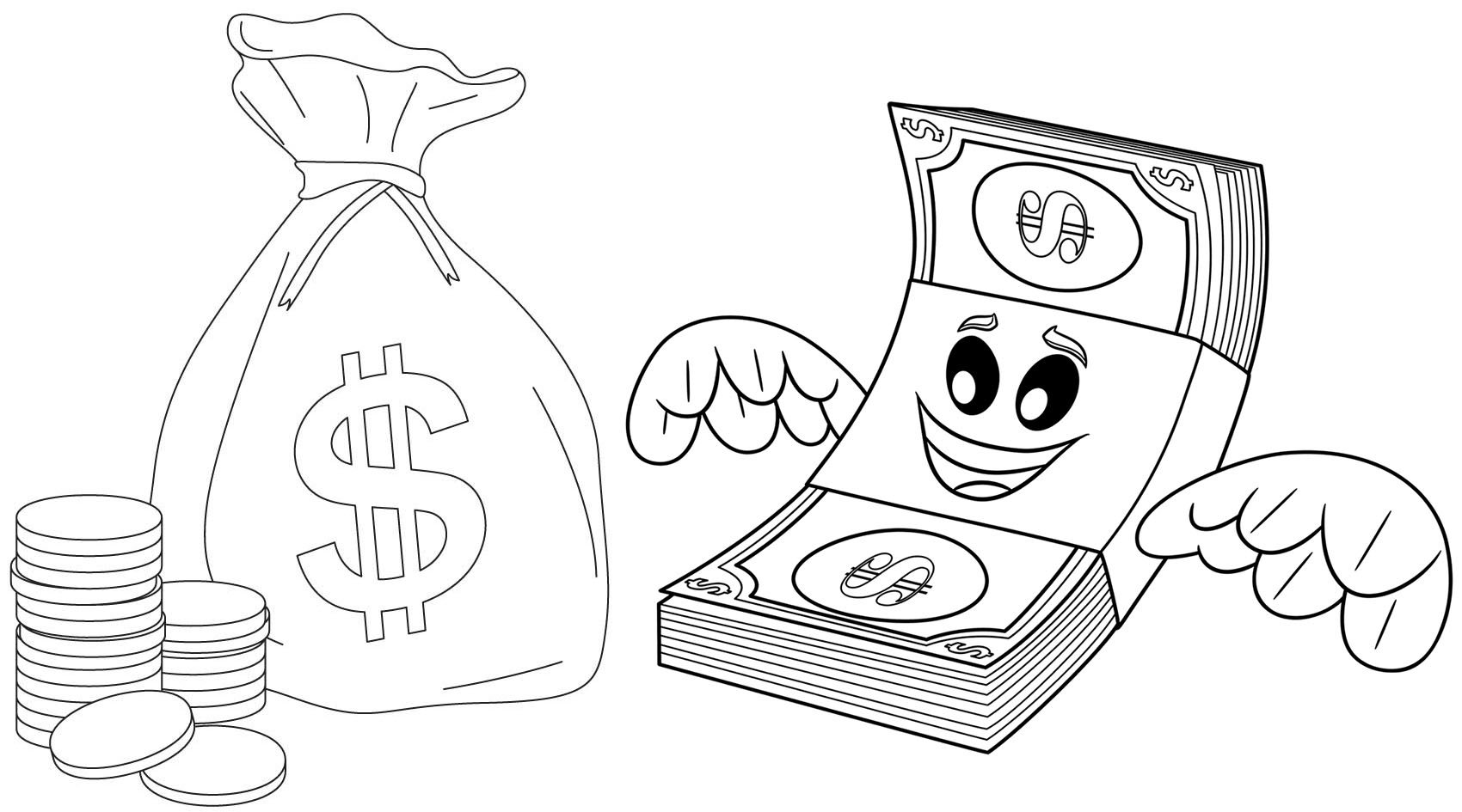 money coloring page printable money coloring pages for kids cool2bkids money page coloring