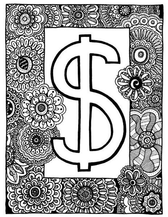 money sign coloring page dollar sign coloring page coloring book page printable sign coloring money page