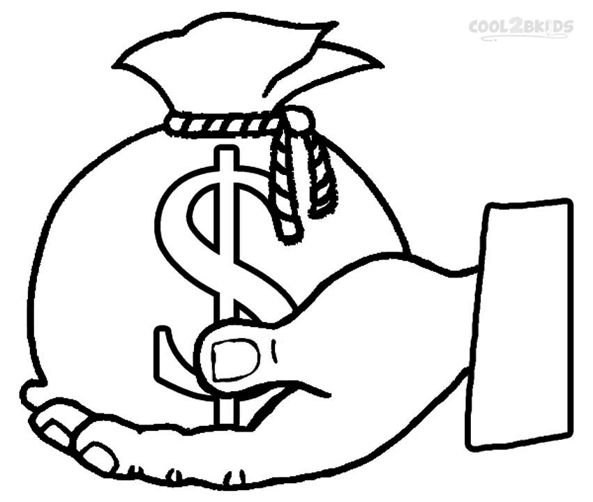 money sign coloring page printable money coloring pages for kids cool2bkids sign money coloring page