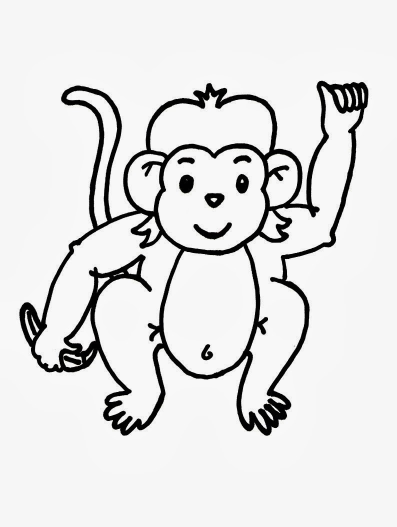 monkey clipart coloring best monkey outline 16613 clipartioncom monkey clipart coloring