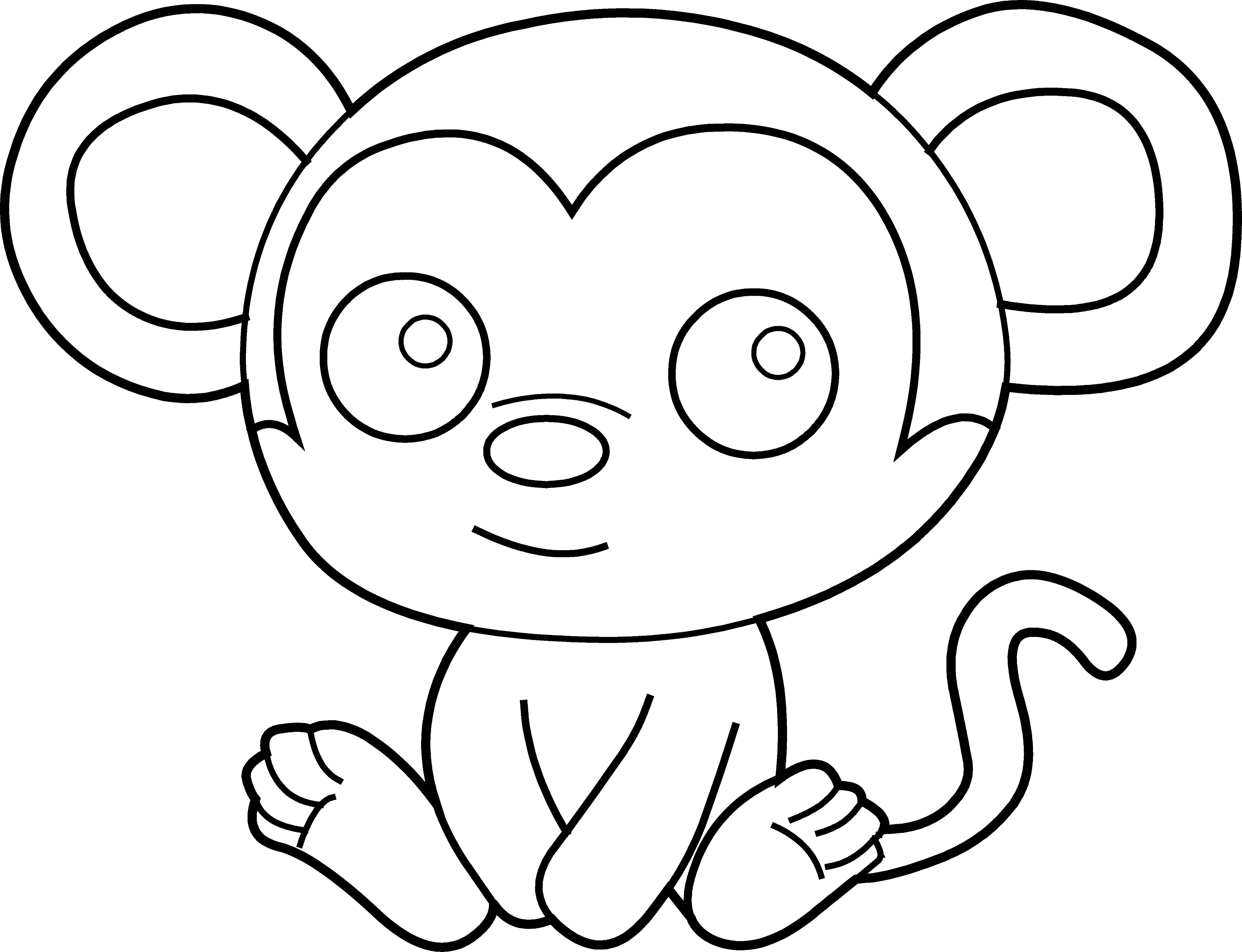 monkey clipart coloring colouring monkey clipart best clipart monkey coloring