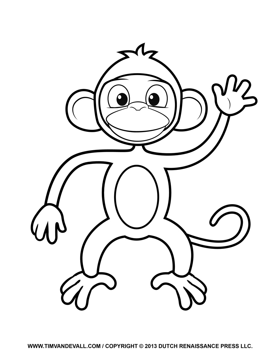 monkey clipart coloring monkey coloring pages free download on clipartmag clipart monkey coloring