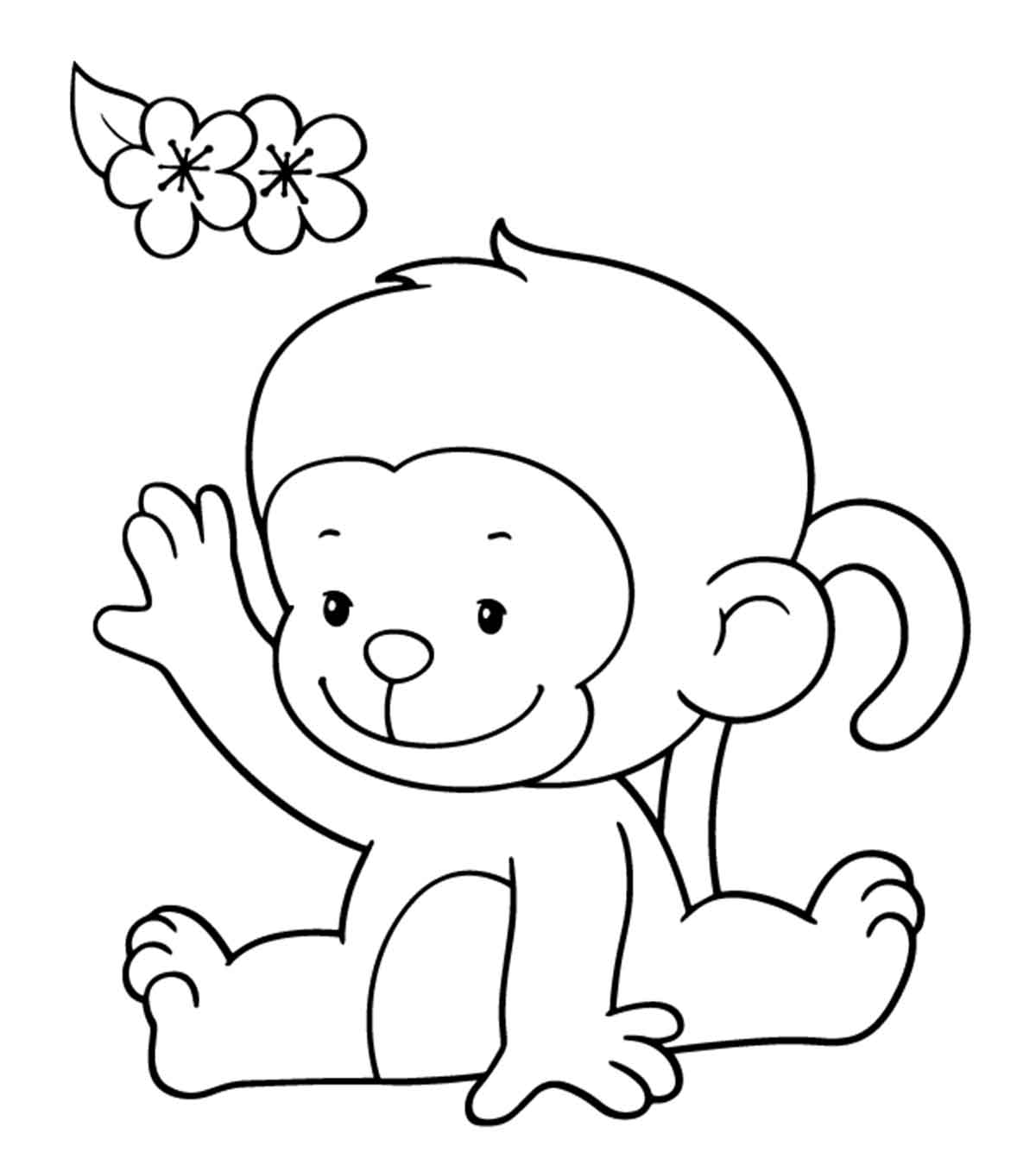 monkey clipart coloring picture of cartoon monkeys clipartsco coloring clipart monkey